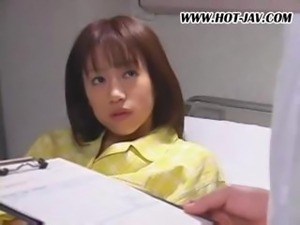 Japanese babe is in prison and is treated hard as she's fucked