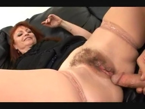 Mature redhead fuck and facial