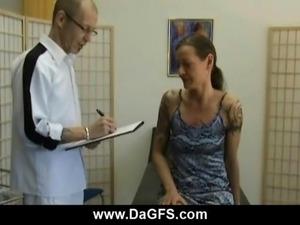 Gyno pervert fucks his sexy patient