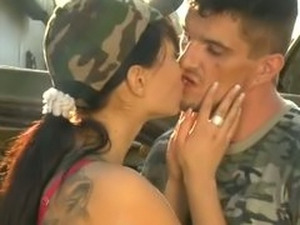 Big Breasted Soldier Fucked