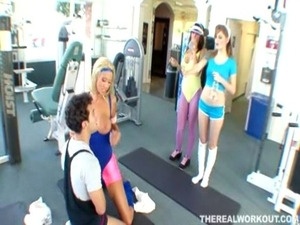 Tanya having special slut training in gym