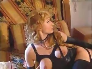 ITALIAN BLONDE LATEX GIRL FUCKED HARD