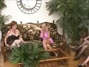 Mature swinger party with these ladies eating cock or fucking