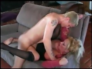 Several mature beauties get some hot porn scenes smokin'