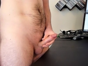 Wanking with nice cumload and panting