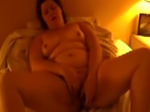 Mature couple. My 60 years bbw wife is still a great masturbator. While she...