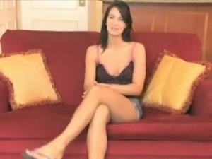 Beautiful brunette likes big dick anal