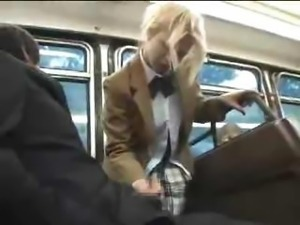 Amateur Blonde Schoolgirl Sex On Bus