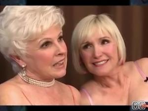 Blonde granny threesome