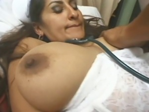 Everyones favourite busty indian in nurses uniform