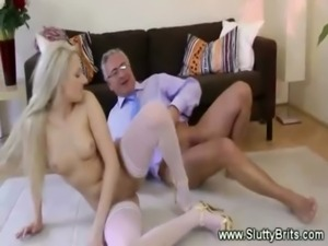 Young blonde fucks and gives bj ... free