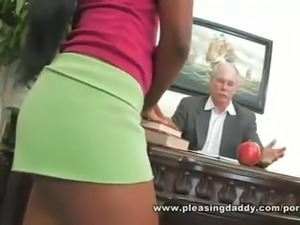 Horny Old Dean Fucks Cute Black Student