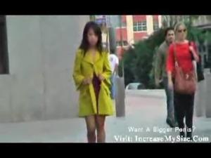 Jade sexy upskirt public asian free