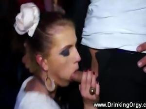 A group of horny european ponrstars get fucked at party