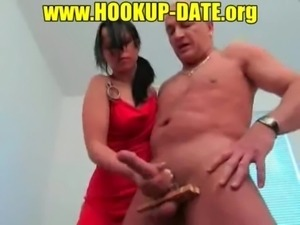 Amateur hot handjob german free
