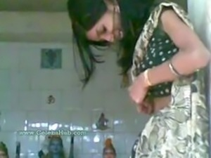 Young indian couple having sex in temple