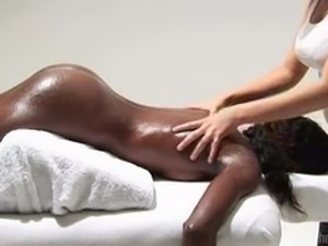 Ebony Pussy Massage.