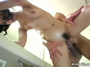 Hot asian slut maria ozawa fucked in the bathroom