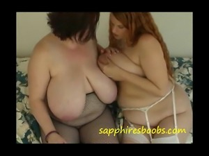 Big tits Sapphire gets her huge tits sprayed with mothers milk