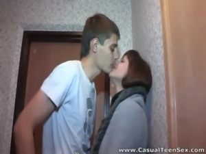 Hot casual fuck in a hallway free