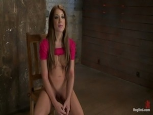 Amy Brooke is stripped, gagged, ... free