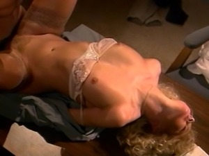 Nasty blonde sucks that cock and squeezes every last drop of cum....mmmm yummy!