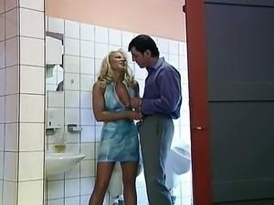 Toilet slut loves to fuck and suck