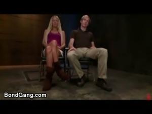 Loan sharks fuck bound blonde free
