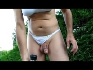 MVI 0405 Penis milking outdoor free
