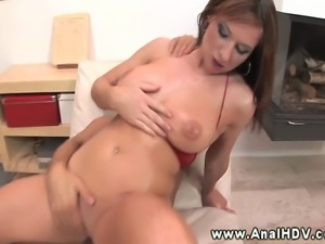 Busty Mischel Channson sucks a cock hard so its ready to fuck in HD