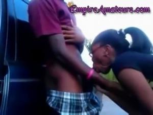 Black Teen Sucks A Mean Dick free