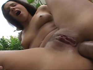 Gorgeous Brazilian bitch gets her wet pussy licked as she then blows on that...