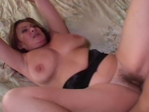 Mature redhead slut hired a young stud to fill her dreams about stiff dick...