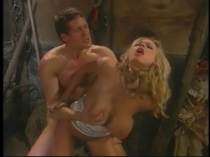 Briana Banks is a rich homeowner fucked by her chauffeur on barn floor