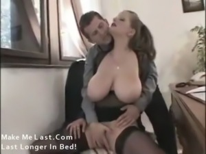 Chick with awesome natural tits nailed free