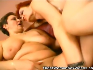 We have these two grannies in this clip taking turns on a horny stud. Watch...