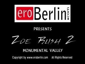 Eroberlin Zoe Rush skinny teen outdoor pissing Monument Valley long hair...