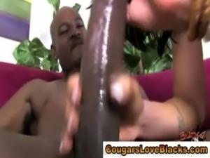 Mature cougar milf rides big black cock hard free
