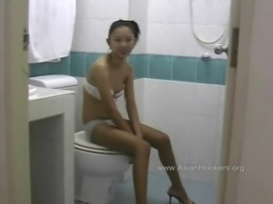 Thai Hooker Sucks Cock in the Toilet free