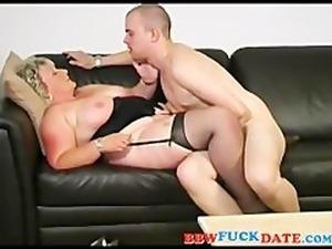 Fat Ass Mature BBW Swallow Young Sperm