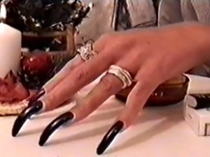 Pilot ordered busty black nails