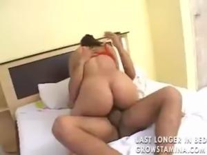 horny slut riding his big cock on his bedroom free