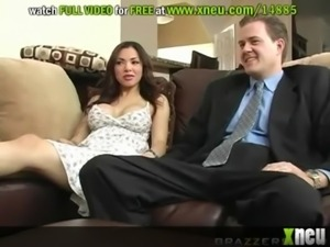 Horny And Desperate Housewife Fucks Her Husband's Best Friend free