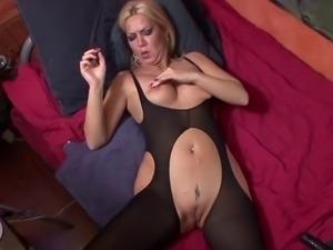 German mature mom playing