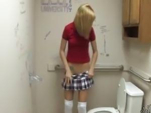 dildo in a school bathroom