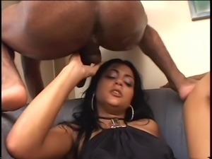Raunchy Brazilian girl fucked dp in foursome