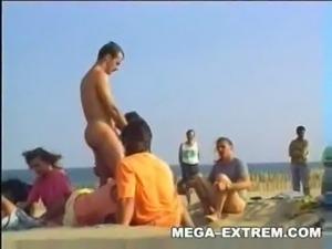 Swinger outdoor beach gang bang free