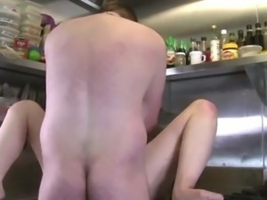 Dirty couple fucking in the kitchen for GirlsOutWest