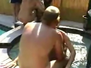 video mature swinger pool party
