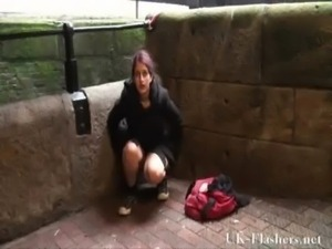Pissing in public of indian teen peeing outdoors and flashing free